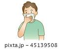応急手当イラスト66:鼻血 45139508