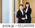 面接 就職活動 ビジネス 女性 オフィス ビジネスウーマン 45140308
