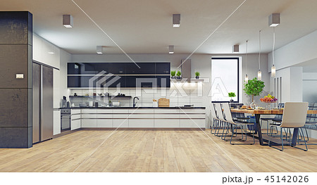 modern  kitchen interior. 45142026