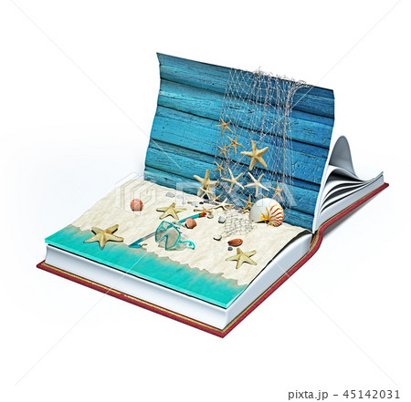 open book with beach 45142031