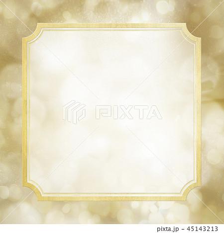 背景-ゴールド-キラキラ-フレーム 45143213