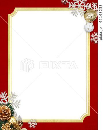 背景-雪-クリスマス-ゴールド-レッド-キラキラ-フレーム 45143253