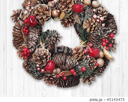 背景-クリスマス-リース 45143475
