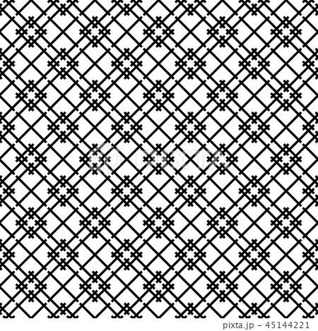 Seamless japanese pattern shoji kumiko in black 45144221