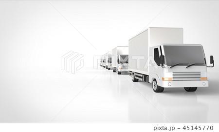 トラック 5台 走行中 右 45145770