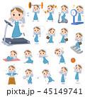 女性 修道女 運動のイラスト 45149741