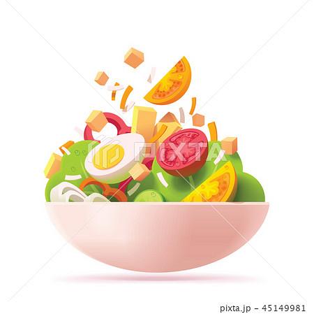 Vector green salad icon 45149981