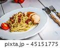 Italian spaghetti with chicken and sundried tomato 45151775