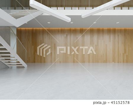Interior of a lobby hotel reception 3D illustration 45152578