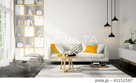 Interior modern design room 3D illustration 45152597