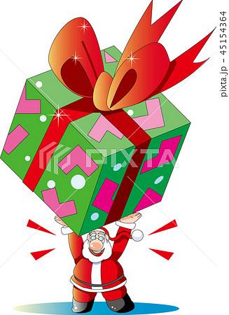 サンタクロースイラスト, クリスマスイラスト, プレゼント, 大きなプレゼント, リボン, パッケージ, 白バック, ベクター, コピースペース, サンタ, イベント, 冬, 年中行事, 贈り物, 箱, 包装, ボックス, イラスト, 背景, 素材