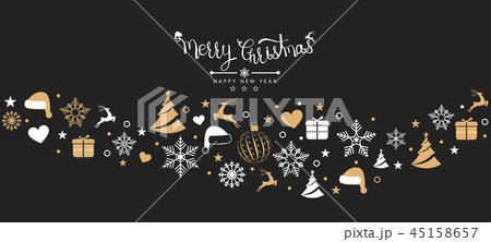 Christmas background with element icons 45158657