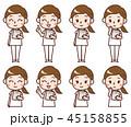 看護師 女性 表情のイラスト 45158855
