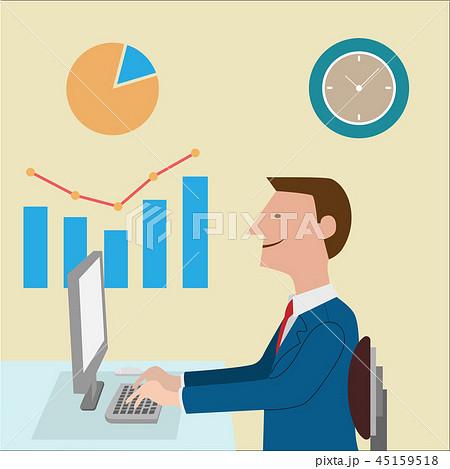 business man vector illustration 45159518