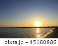 東京湾 臨海地区に沈む夕陽 45160886