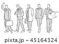ビジネスマン ビジネス サラリーマンのイラスト 45164324