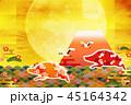亥 亥年 富士山のイラスト 45164342