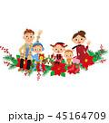 クリスマス飾りに座る家族 45164709