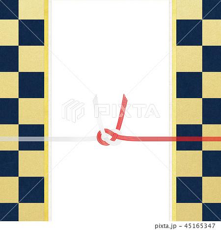 和紙-和-和風-和柄-市松模様-紅白-のし紙-水引 45165347