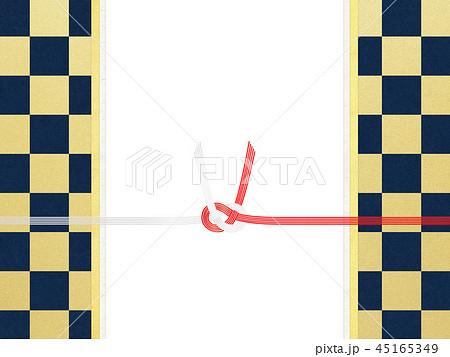 和紙-和-和風-和柄-市松模様-紅白-のし紙-水引 45165349