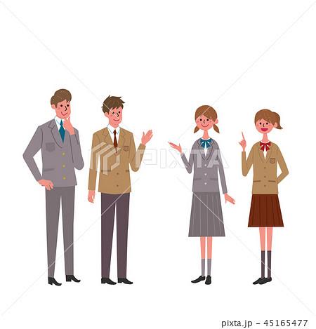 学生服 男子学生 女子学生 イラスト 45165477