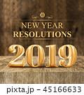 2019 決議 新春のイラスト 45166633