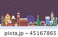街 クリスマス ゆきのイラスト 45167865