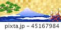 富士山 松 梅のイラスト 45167984