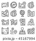 地図 アイコン ベクタのイラスト 45167994