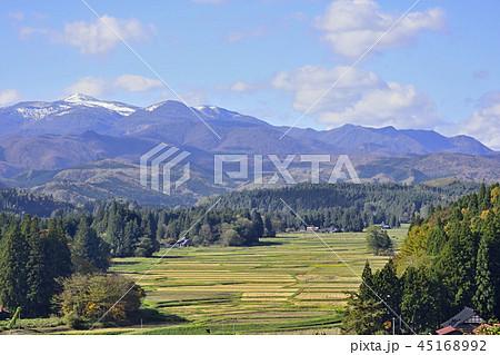 秋 骨寺村荘園遺跡地区と栗駒山 45168992