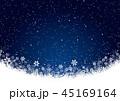 雪 雪の結晶 冬のイラスト 45169164