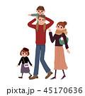 家族 白バック 4人のイラスト 45170636
