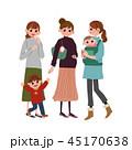 女性 妊婦 マタニティのイラスト 45170638