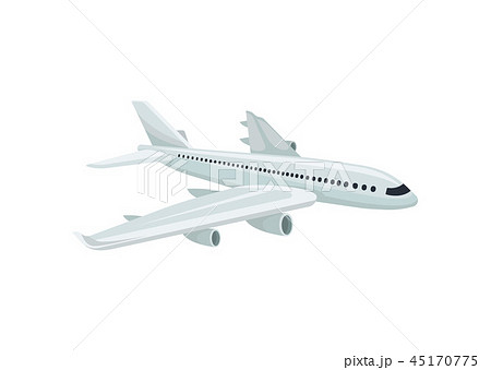 Passenger aircraft. Air transportation. Travel theme. Flat vector element for promo poster or banner 45170775