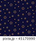 Starry night seamless pattern background blue and gold shapes in retro style. 45170990