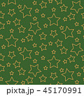 Stars seamless pattern background green and gold shapes in retro style. 45170991
