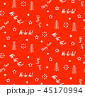 Xmas background pattern white icons on red. 45170994