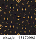Xmas background pattern gold snowflake icons on black. 45170998