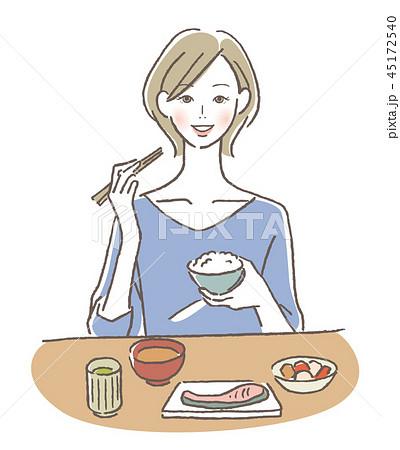 食事する女性 45172540