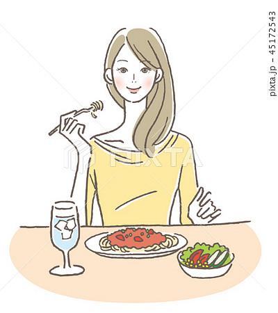 食事する女性 45172543