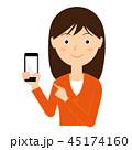 スマートフォン スマホ 女性のイラスト 45174160
