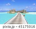 インド洋の美しいサンゴ礁の海 45175016