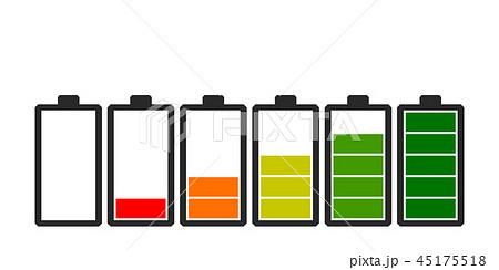 Battery icon. Charge level indicators. 45175518