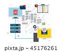 ネットワーク 通信 データのイラスト 45176261