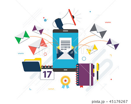 Send or receive email marketing, communication 45176267