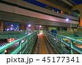 溝田橋交差点の風景(夜景) 45177341