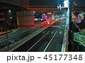 溝田橋交差点の風景(夜景) 45177348