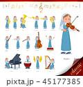 女性 シスター 楽器のイラスト 45177385