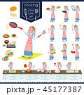 女性 シスター 料理のイラスト 45177387