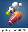 ゲーム 試合 サッカーのイラスト 45180208